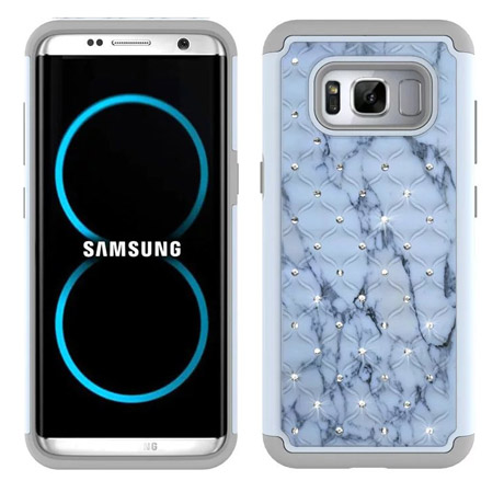 online store b1c38 33a73 Samsung Galaxy S8 PC Silicone Spot Drill Case