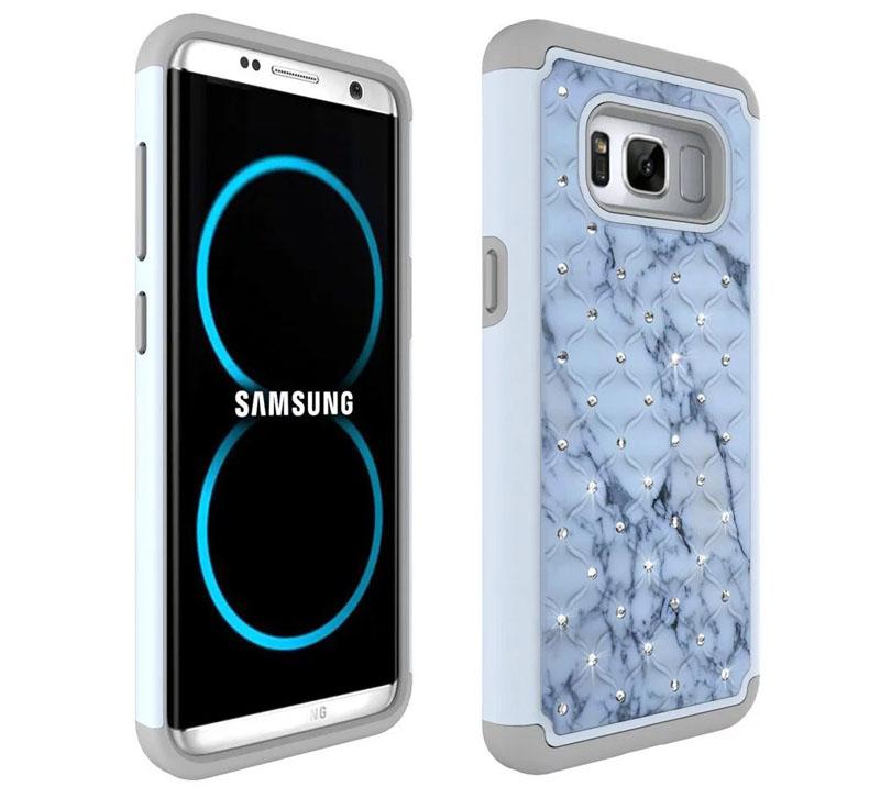 Samsung Galaxy S8 Plus PC Silicone Spot Drill Case