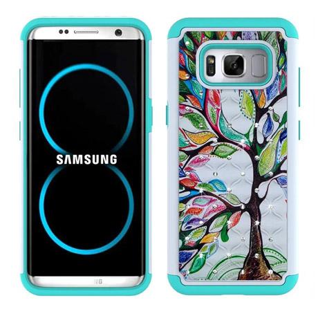 Samsung Galaxy S8 Plus PC Silicone Spot Drill Case-3