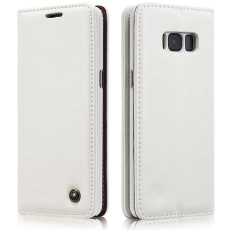 online store 6e088 4662d CaseMe Samsung Galaxy S8 Flip Leather Wallet Case White