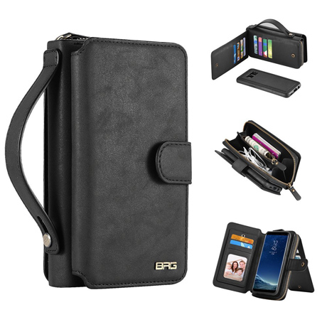 BRG Samsung Galaxy S8 Zipper Wallet Case-1