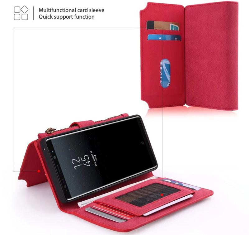 edf203e6941 POLA Samsung Galaxy Note 8 Wallet Case Red - Official CaseMe Case