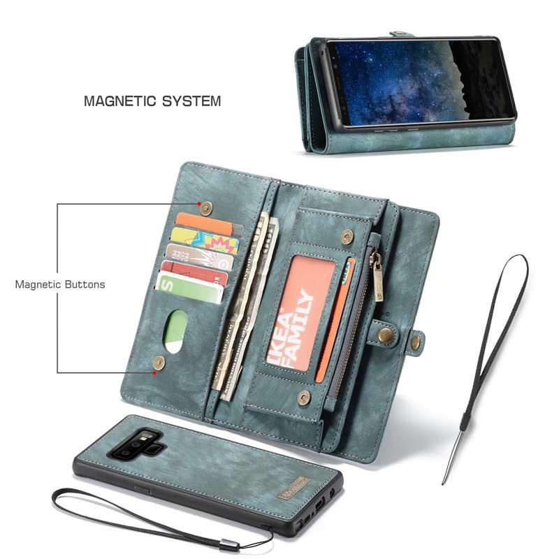 CaseMe Samsung Galaxy Note 9 Magnetic Detachable Wallet Case