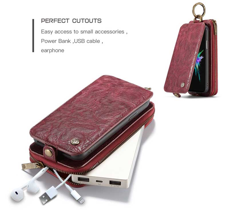 CaseMe iPhone X Leather Wallet Case
