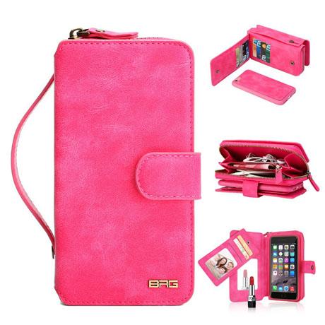 BRG iPhone 6S Zipper Wallet Case