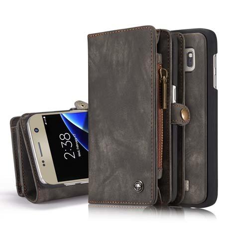 b990ba8fd397 CaseMe Samsung Galaxy S7 Wallet Case Black
