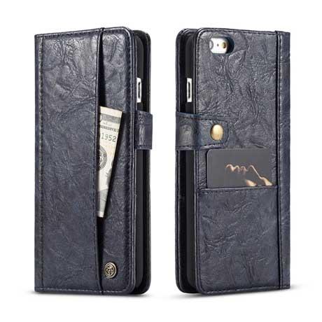 f2491238b4 ... iPhone 6S Plus/6 Plus Retro Leather Wallet Case Blue. Sale! $26.99  $19.99