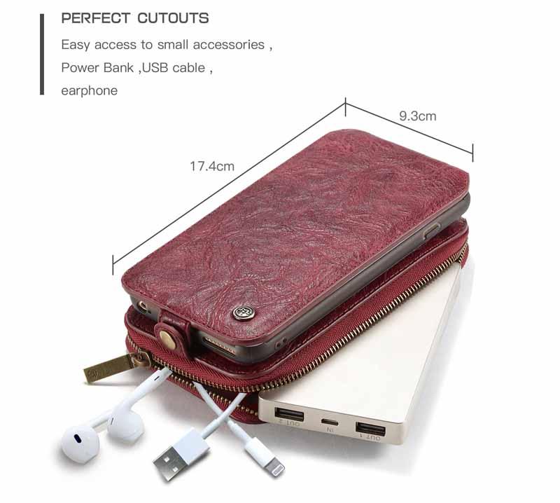 CaseMe iPhone 6S Plus/6 Plus Leather Wallet Case