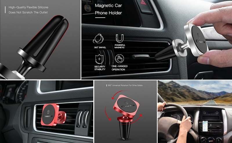 CaseMe Air Vent Mount Magnetic Car Phone Holder Stand