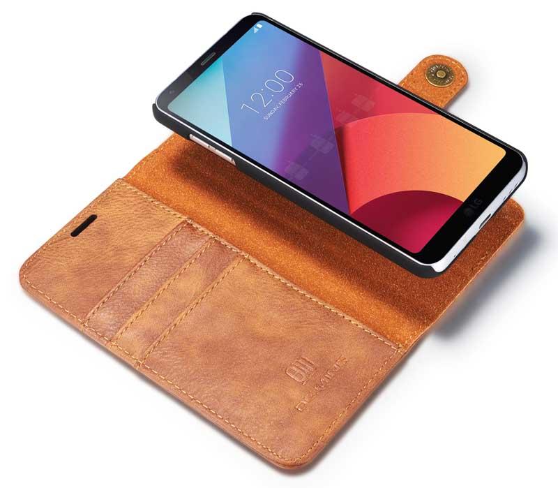 DG.MING LG G6 Magnetic Detachable 2 in 1 Wallet Case