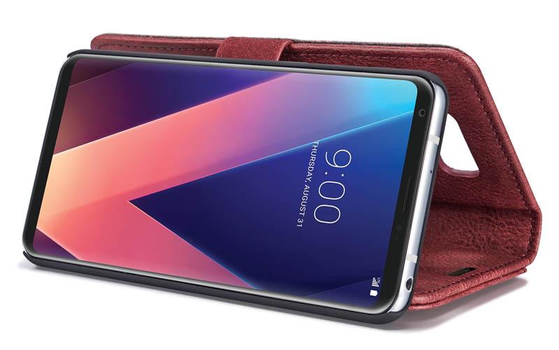 DG.MING LG V30 Magnetic Detachable 2 in 1 Wallet Case