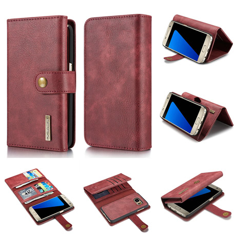 DG.MING Samsung Galaxy S7 Genuine Cowhide Leather Wallet Case-4