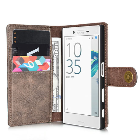 DG.MING Sony Xperia X Compact Wallet Case-3