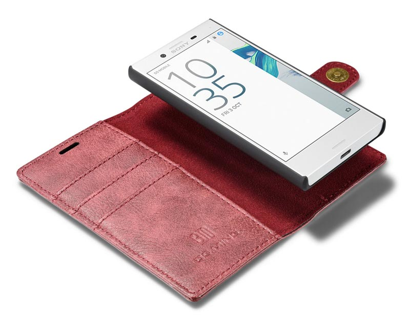 DG.MING Sony Xperia X Compact Magnetic Detachable 2 in 1 Wallet Case