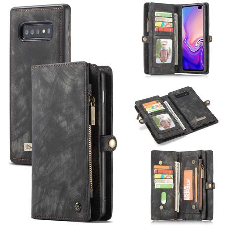CaseMe 008 Samsung Galaxy S10 Plus wallet case black