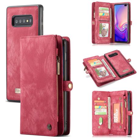 CaseMe 008 Samsung Galaxy S10 Plus wallet case red
