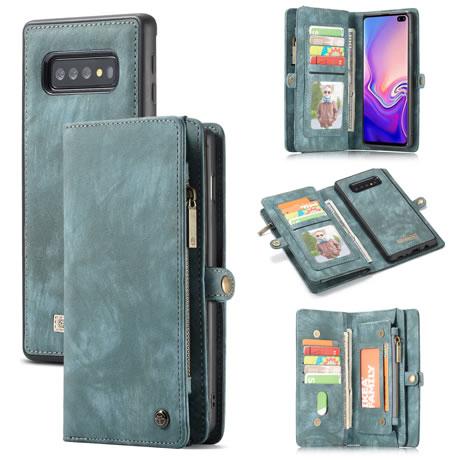 CaseMe 008 Samsung Galaxy S10 wallet case blue