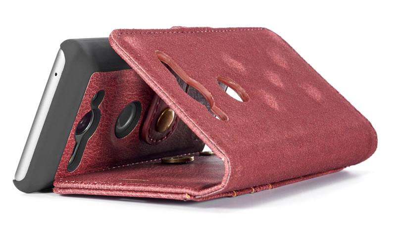 DG.MING Sony Xperia XZ2 Compact Detachable Wallet Case