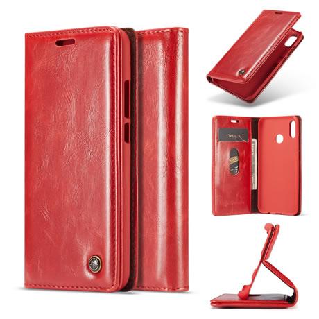 super popular 9f8df 4a516 CaseMe Huawei P20 Lite Flip Leather Wallet Case Red