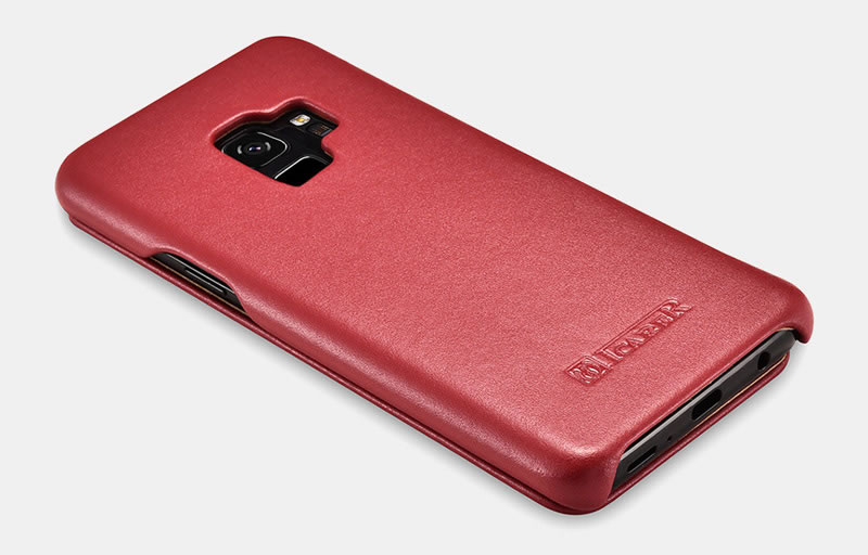 iCarer Samsung Galaxy S9 Curved Edge Luxury Genuine Leather Case