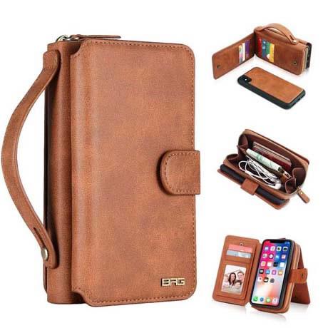 BRG iPhone XR Zipper Wallet Case