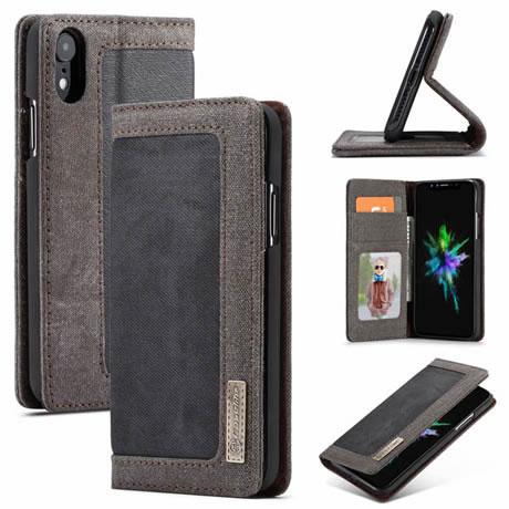 iphone xr case black flip