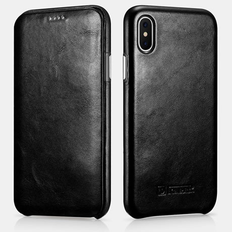 iCarer iPhone XS Leather Case