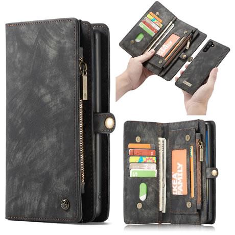 CaseMe Samsung Galaxy Note 10 Wallet Case Black
