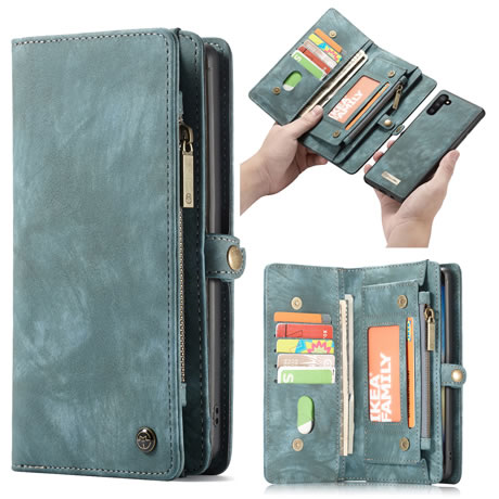 CaseMe Samsung Galaxy Note 10 Wallet Case Blue