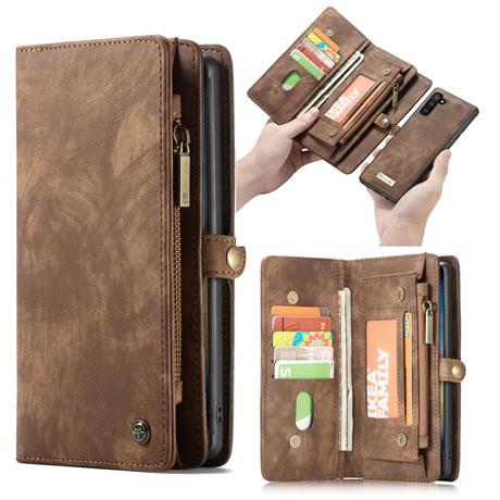 CaseMe Samsung Galaxy Note 10 Wallet Case Brown