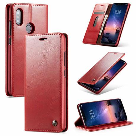 caseme 003 xiaomi redmi 6 pro wallet case red