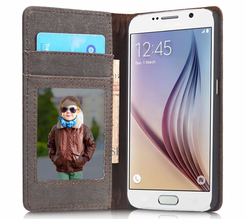 CaseMe Samsung Galaxy S6 Canvas Wallet Case