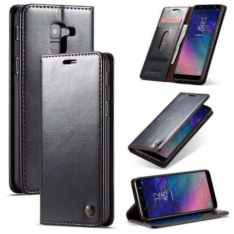 CaseMe 003 Samsung Galaxy J6 2018 Wallet Case Black