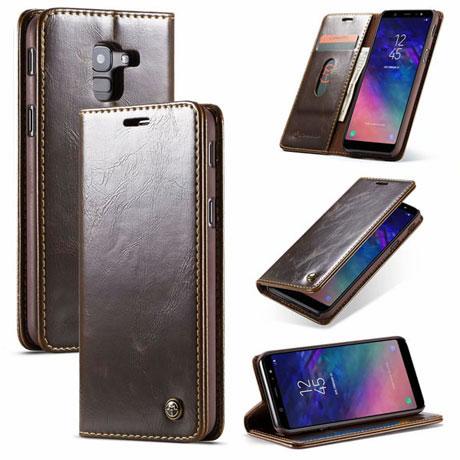 CaseMe 003 Samsung Galaxy J6 2018 Wallet Case Brown