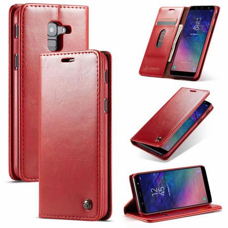 CaseMe 003 Samsung Galaxy J6 2018 Wallet Case Red