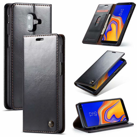 CaseMe 003 Samsung Galaxy J6 Plus Wallet Case Black