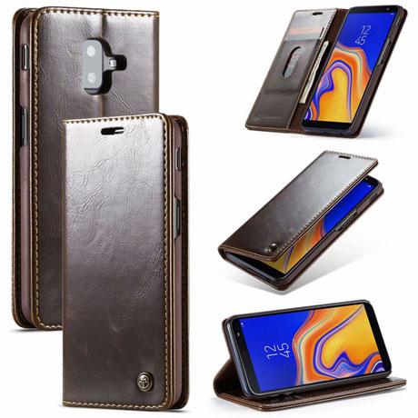 CaseMe 003 Samsung Galaxy J6 Plus Wallet Case Brown