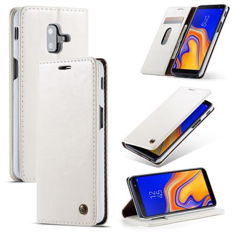 CaseMe 003 Samsung Galaxy J6 Plus Wallet Case White
