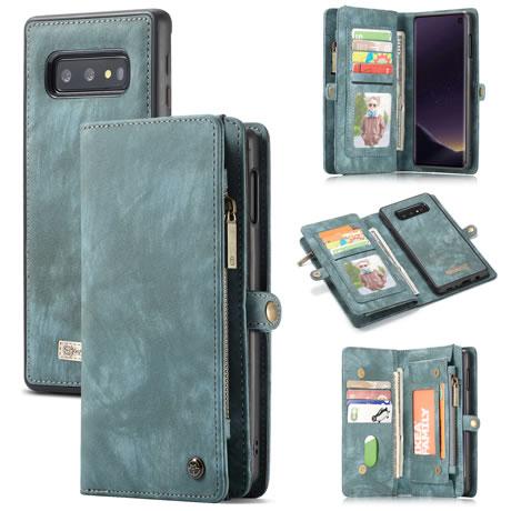 CaseMe 008 Samsung Galaxy S10 Lite wallet case blue