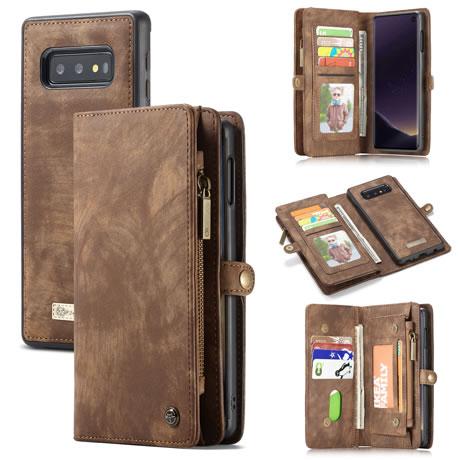 CaseMe 008 Samsung Galaxy S10 Lite wallet case brown