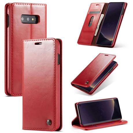 Caseme 003 Samsung Galaxy S10 Lite wallet case red