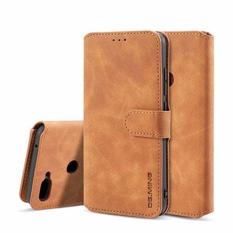DG.MING Xiaomi Mi8 Lite Retro Leather Wallet Case Brown