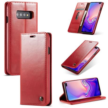 caseme 003 Samsung Galaxy S10 Plus wallet case red