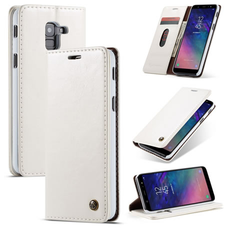 caseme 003 samsung galaxy a6 2018 wallet case white