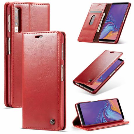 caseme 003 samsung galaxy a7 2018 wallet case red