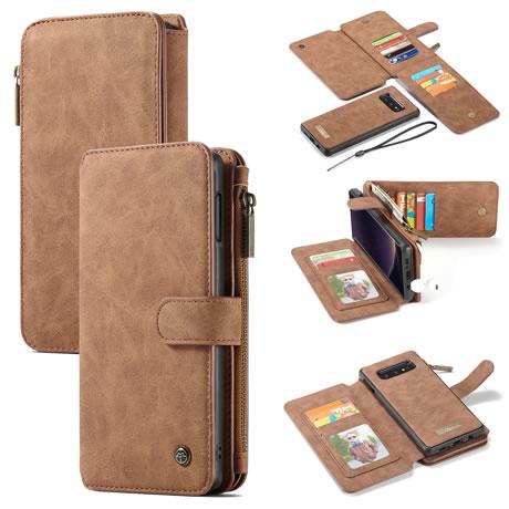 caseme 007 samsung galaxy s10 lite wallet case brown