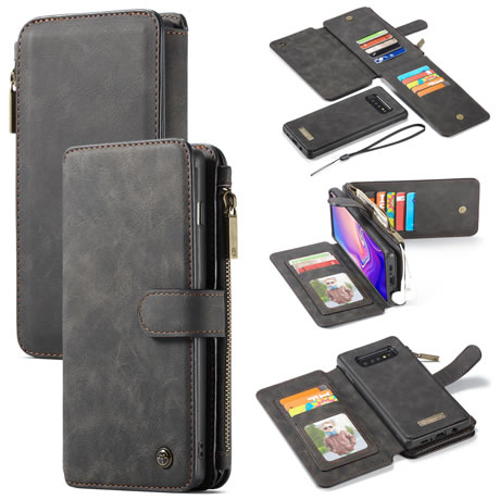 caseme 007 samsung galaxy s10 plus wallet case black
