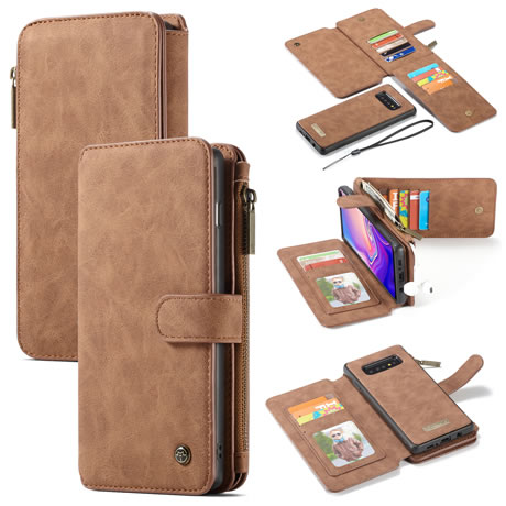 caseme 007 samsung galaxy s10 plus wallet case brown