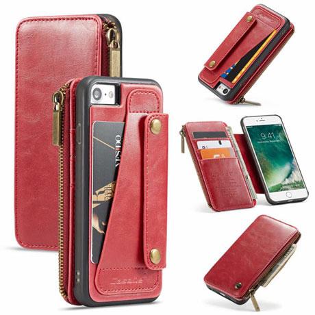 caseme 011 iPhone 7 wallet case red