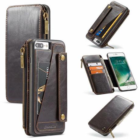 caseme 011 iphone 7 plus wallet case brown